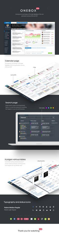 Onebox | Dashboard UI on Behance