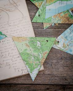 DIY wedding decoration kit  Vintage atlas map by theStoryOfVintage, $19.95