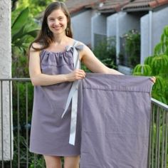 Make a cute dress or summer top from a pillowcase!  @Victoria Noel @Molly Wag @Just A Little Creativity its Goodwill time...