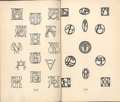 """""""how to design monograms"""" by elizabeth and curtiss sprague, 1927"""