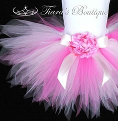 Girls Tutu Skirt Pink Tutu Pink Powder Pixie 11'' door TutuTiara