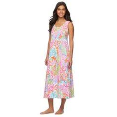 Women's Chaps Pajamas: Printed Maxi Nightgown