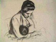 Cassat Mother Rose Nursing her Baby