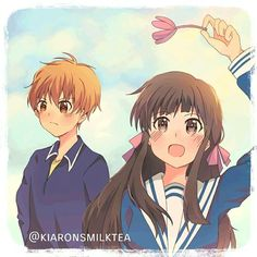 Fruits Basket Anime, Kyo And Tohru, Tohru Honda, Manga Characters, Bungo Stray Dogs, Cute Anime Couples, Anime Ships, Anime Love, Manga Anime