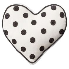 The Emily + Meritt Heart Sequin Pillow $49.50