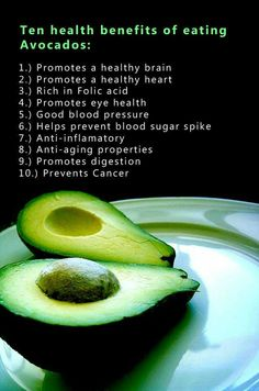 10 reasons to eat avocado