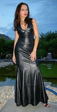 Formal Long Leather Dresses