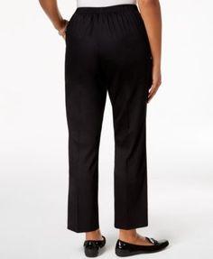 Alfred Dunner In The Limelight Pull-On Straight-Leg Pants - Black 14S