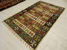 "Very Rare Kilim Rug 3'7""x 5'7"" Turkish Rug Kilim Rugs Bohemian Kilim Rug Decorative Kilim Rug Turkey Kilim Rug Home Decor Kilim Rug"