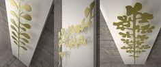 The K8 'Nature' range, shown this time on a white background with Gold leaf, have a look at the web www.k8radiatori.it