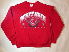 Vtg 1994 Wisconsin Badgers Crewneck Sweathshirt Rose Bowl Made in USA | eBay