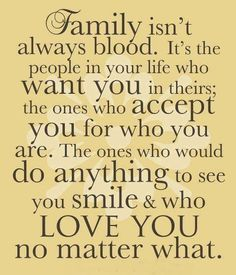When it comes to family, I have the best of the best! Like this quote says, family doesn't always have to consist of blood. I consider many as family; church family, close friends, friends of the family :) So thankful to have so many loved ones who support me through life & who love me so much. And now I can be even more thankful for all my newest family members, my husband's side. God is good