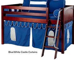 Bunk Bed Curtains Blue & White Castle