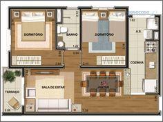 planos de casas de menos de 50m2 - Pesquisa Google