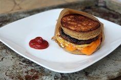 SO. MUCH. WANT. ~Dix  #LowCarb Pancake Sandwich... https://www.ruled.me/low-carb-pancake-sandwich/