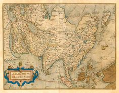 Old, antique map of Asia by A. Ortelius   Sanderus Antique Maps
