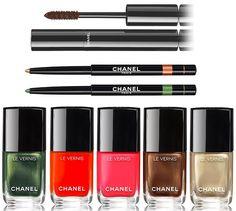 Chanel Dans La Lumiere de L'Ete Summer 2016 Makeup • 524 Turban – pinkish red • 526 Cavaliere – shimmering chestnut (Limited Edition) • 532 Canotier – metallic gold • 534 Espadrille – coral • 536 Emeraude – shimmering emerald