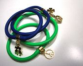 Thick rubber bracelets with charms
