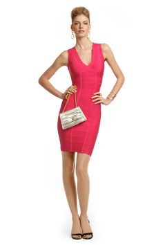 Rent Pink Rose Sheath by Hervé Léger for $60 only at Rent the Runway.