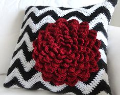 Crochet pattern pillow cover on Etsy