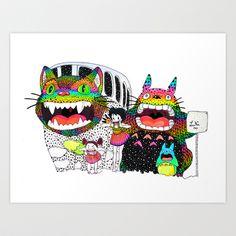 Totoro fan art (cat bus) by Luna Portnoi by Luna Portnoi