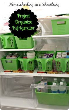 Project Organize Refrigerator Homeschooling on a Shoestring Using Dollar Tree St - Refrigerator - Trending Refrigerator for sales. - Project Organize Refrigerator Homeschooling on a Shoestring Using Dollar Tree Store Finds For Refrigerator Organization Dollar Tree Organization, Freezer Organization, Refrigerator Organization, Kitchen Organization, Organization Hacks, Organizing Ideas, Kitchen Storage, Organized Fridge, Kitchen Pantry