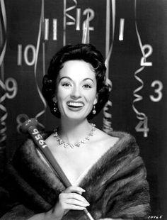 Ann Blyth, New Year's, 1956