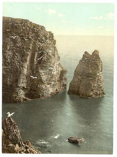 Mary, Sugar Loaf Rock, Isle of Man] (LOC) {I've been to the Isle of Man back in but I would LOVE to go again! Isle Of Man Tt, Die Queen, Celtic Nations, Irish Sea, Scotland Travel, British Isles, Great Britain, Places To See, Monument Valley