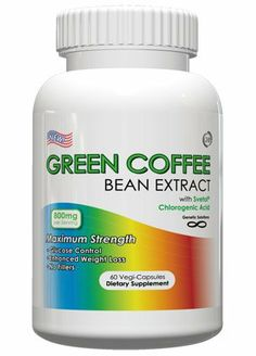 Green Coffee Bean Extract With Svetol – 800mg Per Serving, 60 Vegetarian Capsules, No Fillers, 50% Chlorogenic Acids, 1 Month Supply (Contains Svetol)
