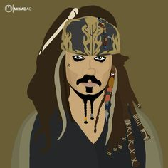 Captain Jack Sparrow  By Mohammad AbouOmar  instalink ... @mhmdao