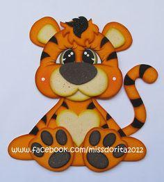 Baby Shower Fun, Jungle Animals, Felt Dolls, Carpet Runner, Paper Piecing, Animal Drawings, Rugs On Carpet, Tigger, Little Ones