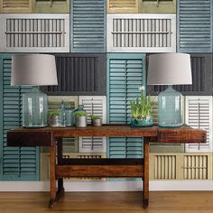 Brewster Home Fashions Salvaged Shutter Distressed Wood Wall Mural & Reviews | Wayfair