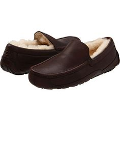 x - UGG Ascot Leather Slippers