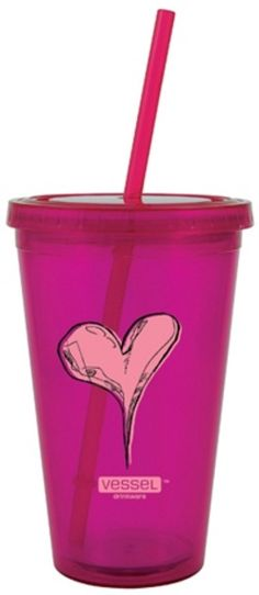 vessel drinkware - twisted heart reusable to-go cup $10