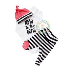 New to the Crew newborn Classics set - footed pants Gender Neutral