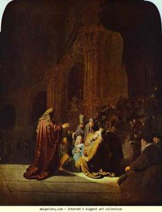 Rembrandt. The Presentation of Jesus  in the Temple. Olga's Gallery.