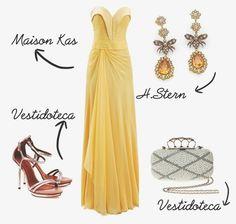 Madrinhas de casamento: Copie o look: vestido de festa amarelo