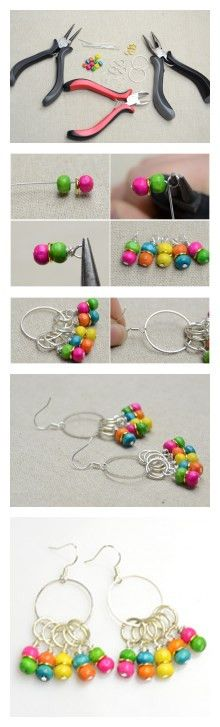 How to Make Wood Beaded Earrings within 5 Minutes
