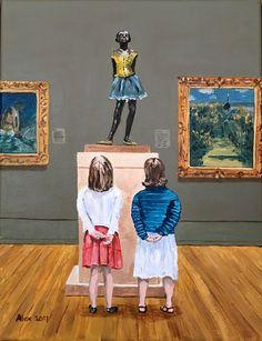 In the museum: Edgar Degas la petite danseuse made by Alex Olzheim