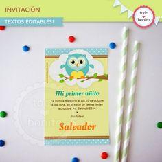 Búhos niños: invitación para imprimir - Todo Bonito