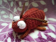 Rocky Roach   The Duchess' Hands, #crochet, free pattern, amigurumi, insect, #haken, gratis patroon (Engels), insect, kakkerlak, #haakpatroon