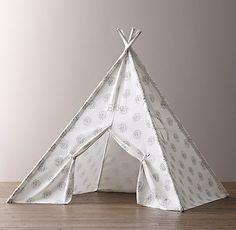 Printed Canvas Teepee Tent