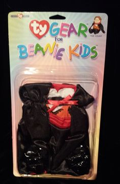 Ty Gear Beanie Kids Outfit The Count Vampire Costume Halloween Sealed NIB, NOS #Ty