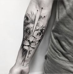 Our Website is the greatest collection of tattoos designs and artists. Find Inspirations for your next Lion Tattoo. Search for more Tattoos. Wolf Tattoos, Hand Tattoos, Lion Forearm Tattoos, Forarm Tattoos, Forearm Tattoo Design, Body Art Tattoos, Shape Tattoo, Tattos, Animal Tattoos
