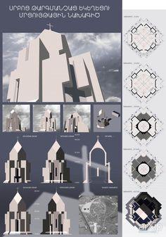 конкурсный проект: архитектура, 3 эт   9м, хай-тек, церковь, храм, синагога, мечеть, дацан, религиозное учереждение, 300 - 500 м2, здание, строение, фасад - камень #architecture #3floors_9m #hitech #church #temple #synagogue #mosque #datsan #religiousinstitution #300_500m2 #highrisebuilding #structure #facade_stone arXip.com
