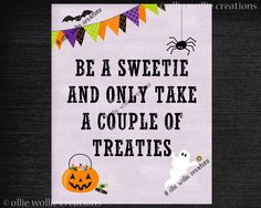 halloween porch printable unattended candy bowl porch sign by olliewolliecreations on etsy
