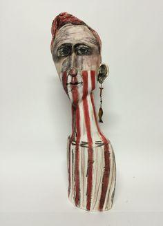 Das ist keine Party – Keramikskulptur – Veronica Source by Ceramic Mask, Sculpture Head, Ceramic Figures, Foto Art, Paperclay, Veronica, Human Art, Elements Of Art, Light Painting