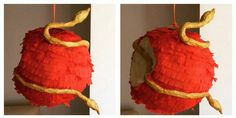 """Disney """"Descendants"""" Apple pinata - How to make it at home. READ IT HERE: http://grown-up-disney-kid.tumblr.com/post/131845423469/how-to-have-a-wickedly-evil-descendants-party"""