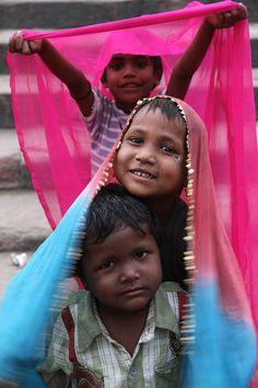 Niños en Nueva Delhi, India.