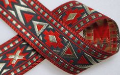 Santa Fe Woven Jacquard about 13/16 wide  Two or by superbsupplies